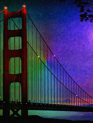 Water Tower Place Painting - Golden Gate Bridge by Lanjee Chee