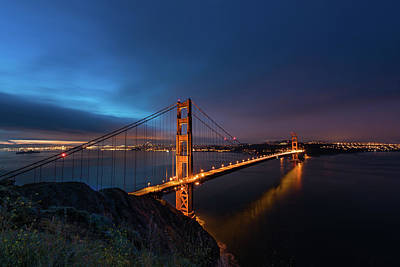 San Francisco California Photograph - Golden Gate Bridge by Larry Marshall