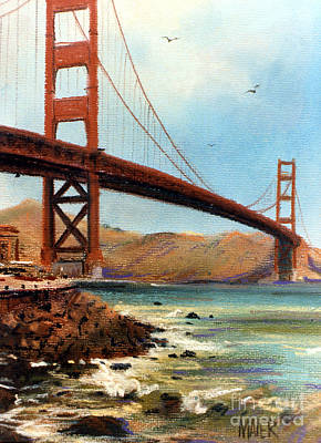 Golden Gate Bridge Looking North Print by Donald Maier