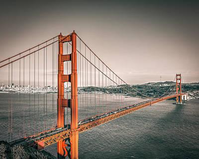 Golden Gate Bridge Selective Color Print by James Udall