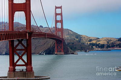 Golden Gate Bridge Print by Sophie Vigneault