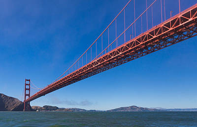 Golden Gate From The Bay Print by Scott Campbell