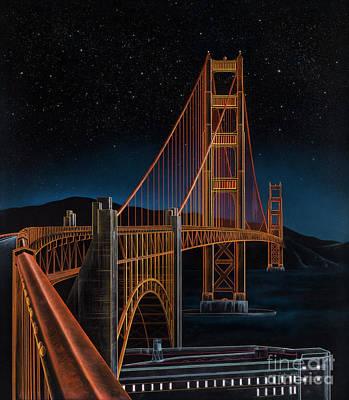 Golden Gate Mixed Media - Golden Gate by Lynette Cook