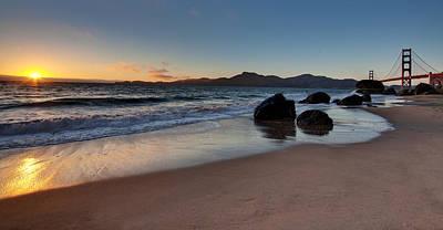 Golden Gate Photograph - Golden Gate Sunset by Mike Reid