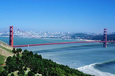 Composite Photograph - Golden Gate Surf by Sean Davey