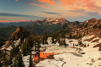 Golden Glow At Silver Glance Lake. Print by Johnny Adolphson