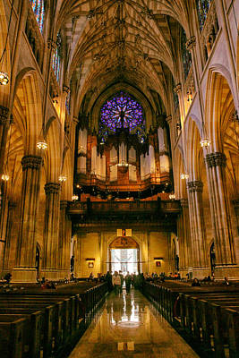 Ornate Photograph - Golden Glow Of St.patrick's Cathedral by Jessica Jenney