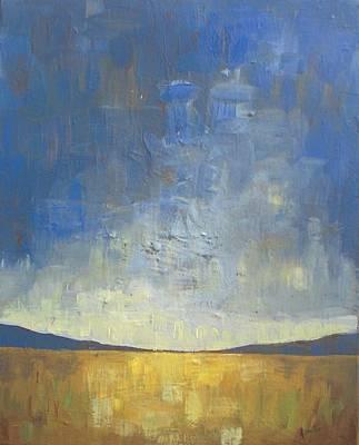 Autumn Landscape Painting - Golden Glow by Vesna Antic