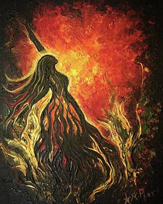 Golden Goddess Original by Michelle Pier