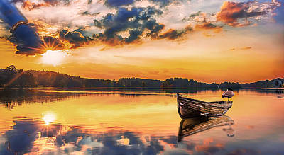 Augusta Photograph - Golden Hour by Ahmed Shanab