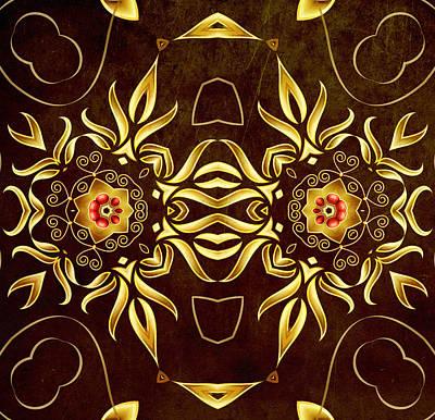 Regalo Digital Art - Golden Infinity by Georgiana Romanovna