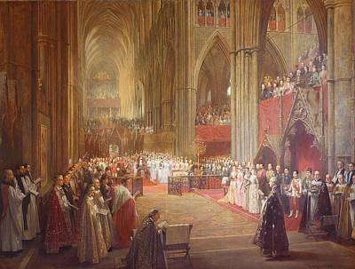 Westminster Abbey Painting - Golden Jubilee Service by William Ewart