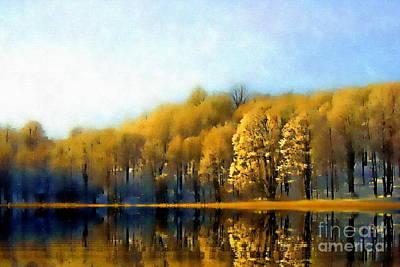 Photograph - Golden Landscape by Andrea Kollo
