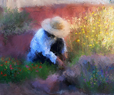 Garden Mixed Media - Golden Light by Colleen Taylor