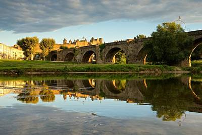Golden Light In Carcassonne Print by Stephen Taylor