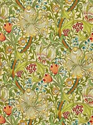 Golden Lily Print by William Morris