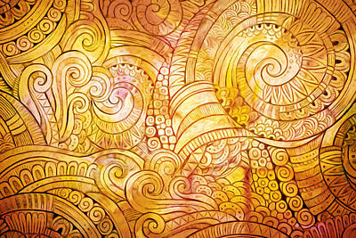Golden Lines Print by Lutz Baar