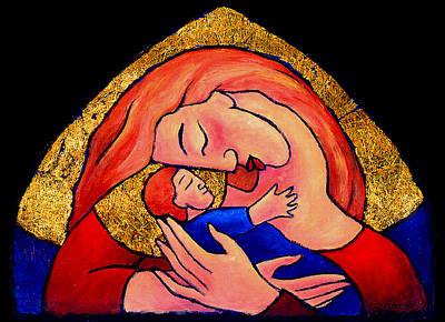 Golden Mama Print by Angela Treat Lyon