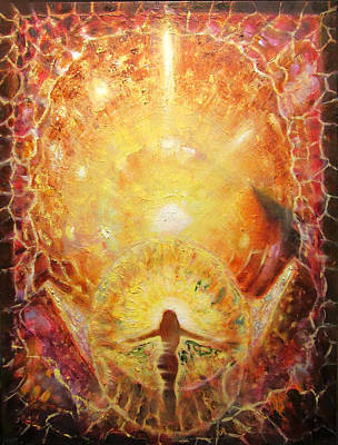 Golden Maria. Crystal Of The Phoenix. Print by Aleksei Gorbenko