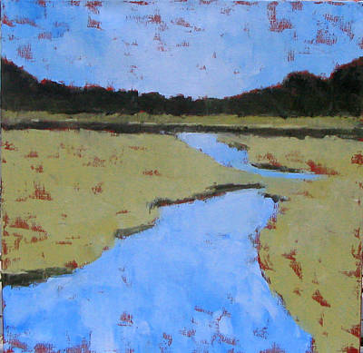 Golden Marsh Print by Donna Thomas