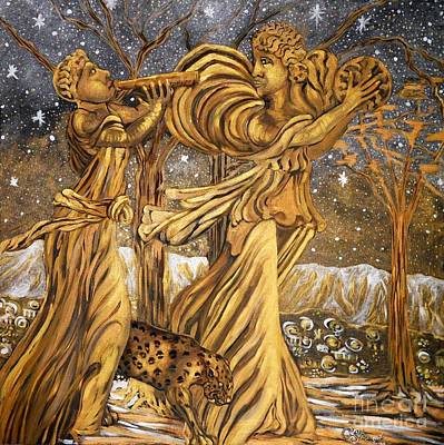 Carolinestreet Painting - Golden Minstrels. by Caroline Street