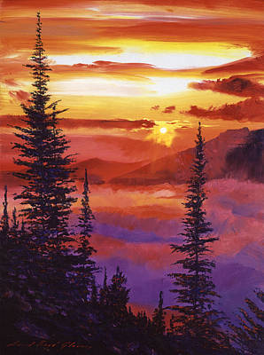 Mist Painting - Golden Moment by David Lloyd Glover