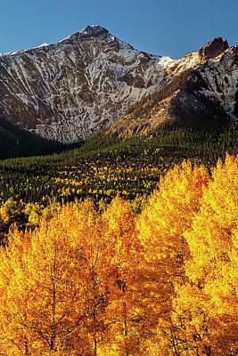 Mountain Photograph - Golden Mountain Scene by Andrew Soundarajan