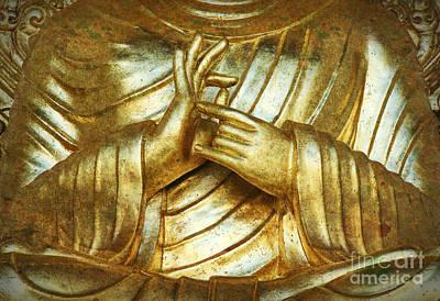 Golden Mudra Print by Tim Gainey