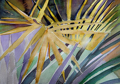 Golden Palms Print by Mindy Newman