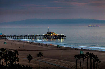 Rollercoaster Photograph - Golden Pier by Gene Parks