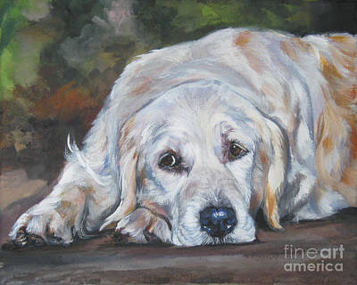 Golden Retriever Resting Print by Lee Ann Shepard