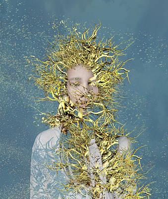 Roots Digital Art - Golden Root  by Bojan Jevtic