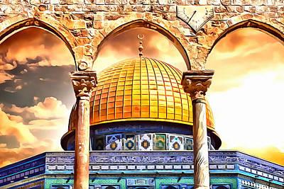 Golden Sky Print by Munir Alawi