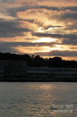 Golden Sky Of Plymouth 5 Print by Gina Sullivan