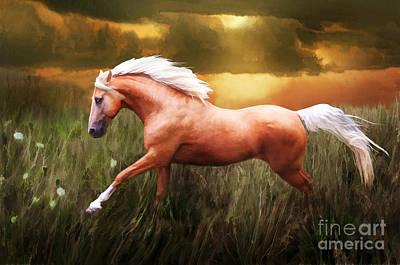 Golden Spirit Original by Melinda Hughes-Berland