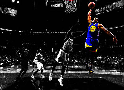 Golden State Warriors Andre Iguodala  Print by Brian Reaves
