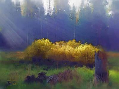 Feild Painting - Golden Surprise by Stephen Lucas