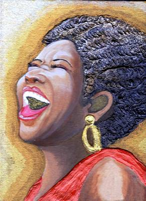Keenya Woods Mixed Media - Golden Voice  by Keenya  Woods