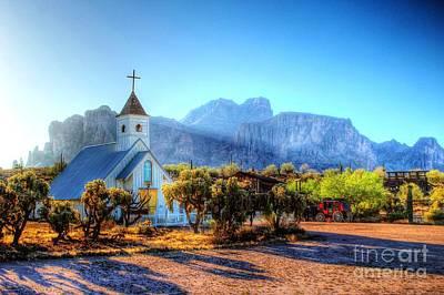 Digital Art - Goldfield Church by Dan Stone