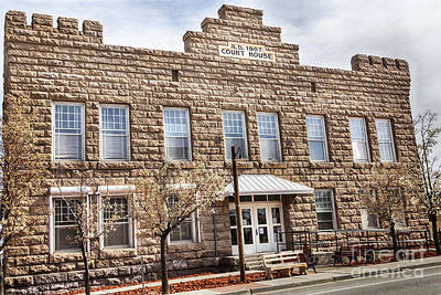 Horizontal Photograph - Goldfield Nv Courthouse by David Millenheft