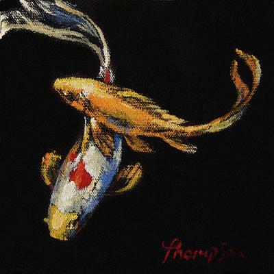 Goldfish Crossing I Original by Tracie Thompson
