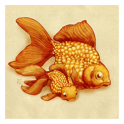 Goldfish I Print by Catherine Noel