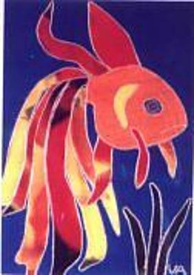 Painting - Goldfish by Valerie X Armstrong