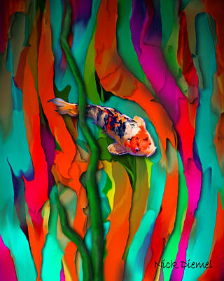 Goldfish World Print by Nick Diemel
