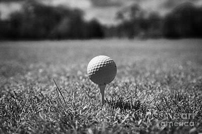 Aim Photograph - Golf Ball On The Tee by Joe Fox