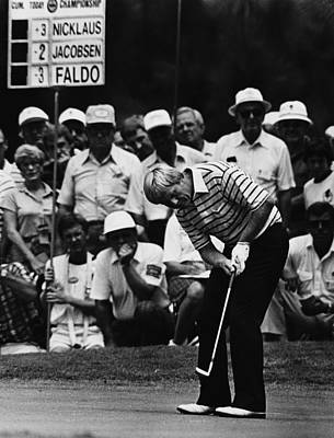 Golf Photograph - Golf Pro Jack Nicklaus, August, 1984 by Everett