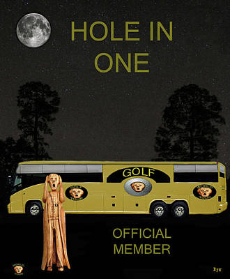 Golf World Tour Scream Tour Bus Hole In One Print by Eric Kempson