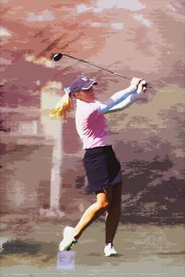 Golfer Print by David Haskett