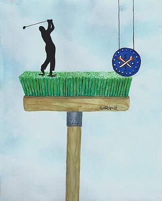 Golfer Print by Edwin Alverio