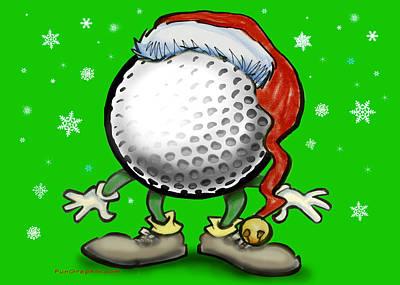 Golfmas Print by Kevin Middleton